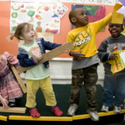 Children at play in daycare setting