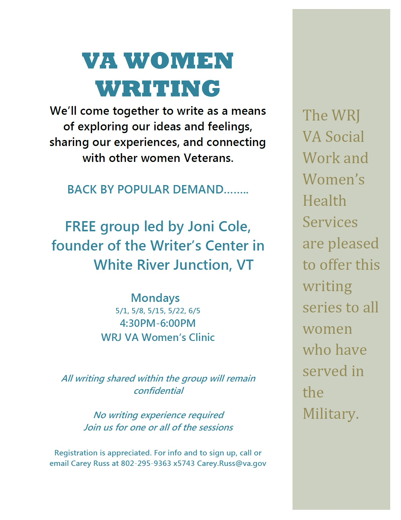 VA Women Writing